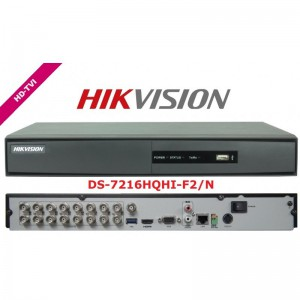HIKVISON 16 Channel HD-TVI DVR 1U CVBS & HDMI Out 1 SATA (DS-7216HQHI-F2/N)
