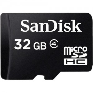 SanDisk SDSDQM-032G-B35A 32GB microSDHC Memory Card Class 4 With SD Adapter