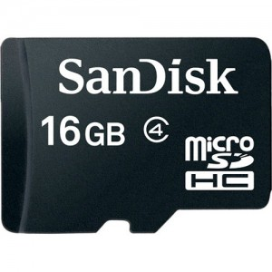 SanDisk SDSDQM-016G-B35A 16GB microSDHC Memory Card Class 4 With SD Adapter