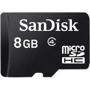 SanDisk  SDSDQM-008G-B35A  8GB microSDHC Memory Card Class 4 With SD Adapter