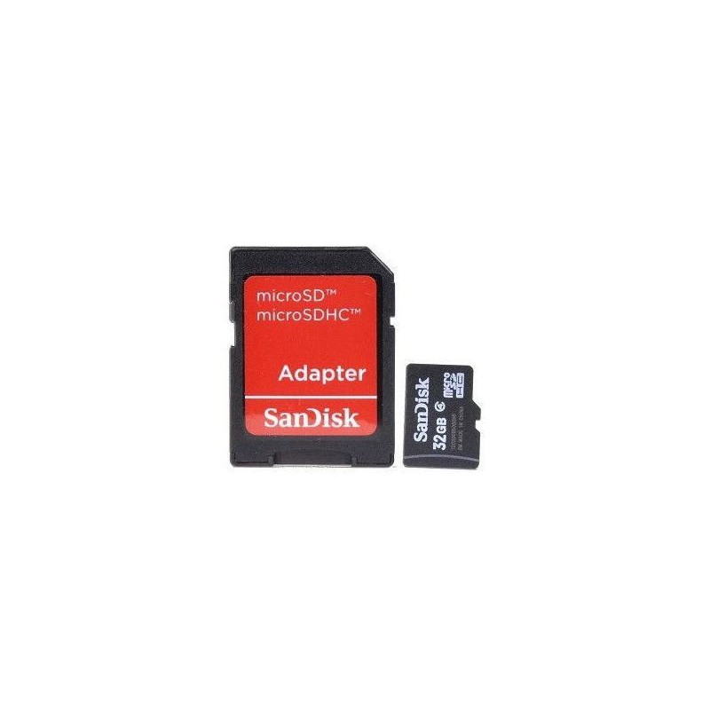 Sandisk  SDSDQM-032GB35A  32GB Class 4 Micro SD Card with SD Adapter