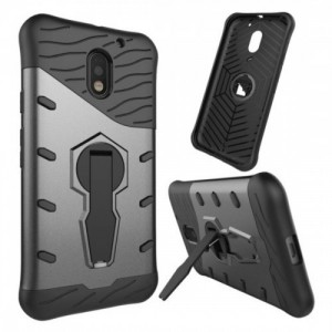 Tuff-Luv  J11_34  Dual Armour Layered Case and Stand for Motorola Moto E 3rd Gen - Black