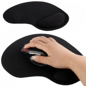 Tuff-Luv  A4_68  Ultra Slim Pad and Cloth Wrist Supporter Mouse Pad - Black