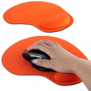 Tuff-Luv  A4_71  Ultra Slim Pad and Cloth Wrist Supporter Mouse Pad - Orange