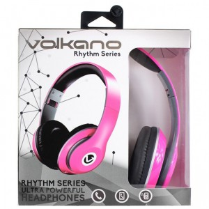 Volkano  VK-20000-PK  Rhythm Series Headphones - Pink