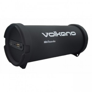 Volkano  VK-30001-S11 Mini Bazooka Series Bluetooth Speaker-Black