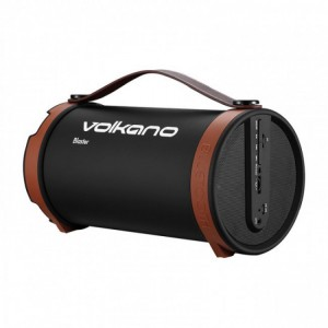 Volkano  VB020-BB  Blaster Series 2.1 Channel Bluetooth Speaker -Black &  Brown