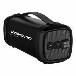 Volkano  VK-3030-BK  Bazooka Squared Bluetooth Speaker-Black