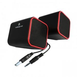 Volkano  VB-702-RED  Diamond Series Red USB Speakers