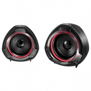 Volkano  VK-3005-BKRD  Turbine Series 2.0 USB Speakers - Black & Red