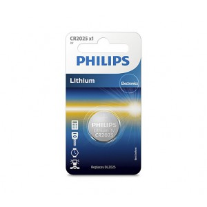 Philips  CR2025/01B  Minicells Battery CR2025 Lithium Sold as Box of 10