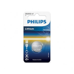 Philips  CR2032/01B  Minicells Battery CR2032 Lithium Sold as Box of 10