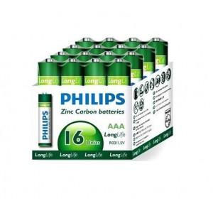 Philips  R03L16F-97  R03L16F  16x AAA Zinc Carbon Long Life Battery