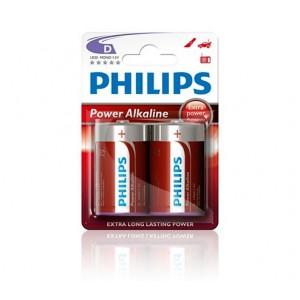 Philips  LR20P2B/97  PowerLife Battery LR20P2B 2 X Type D Power Alkaline Batteries