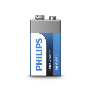 Philips  6LR61E1B/10  Ultra Alkaline Battery  6LR61E1B 9V Ultra Alkaline