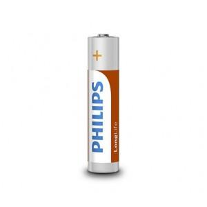 Philips  R03L4B/97  LongLife Battery R03L4B  4x AAA Zinc Carbon Batteries