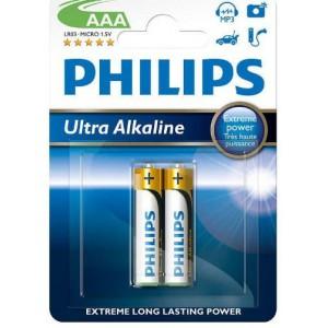 Philips  LR03E2B-10  LR03E2B  2x AAA Ultra Alkaline Battery