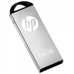 HP V220W-64GB  64GB  USB 2.0 USB Flash Drive-Silver