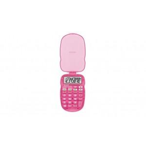Sharp  EL-S10BPK   8 Digit Bright Pink Pocket Calculator with Protective Case