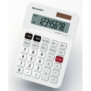 Sharp EL-330F  Mini-Desk Calculator - White