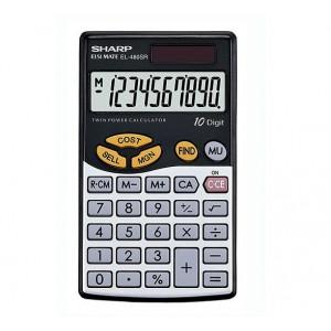Sharp EL-480SB  Business Calculator-Black & Silver
