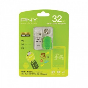PNY  PFOU4032-BK  32GB OTG Flash drive - USB 3.0