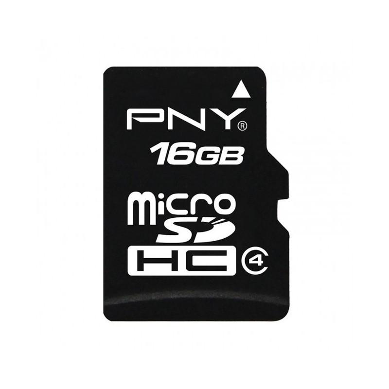 PNY  PNY-16GBC10  16GB  Class 10 Micro SD Card with Adapter-Black