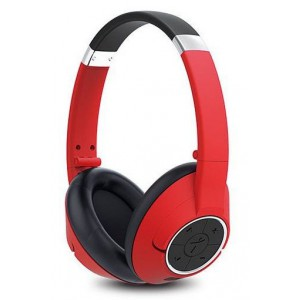 Genius  317-10196102  HS930BT Wireless Bluetooth 4.0 Stereo Headset with Built in Microphone - Red
