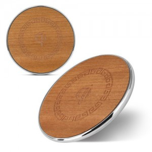Tuff-Luv I2_124 Eco-Charge Bamboo Turbo 9V-1.8A/5V-2A Fast Wireless Charger - Natural