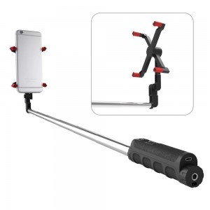 LimoNada X-II Bluetooth Selfie Stick - Remote Shutter for iOS/Android