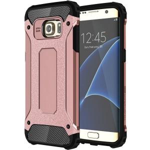 Tuff-Luv  C5_82  Tough Armour Case for Samsung Galaxy S7 Edge - Rose Gold