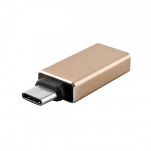 Tuff-Luv  C2_84  USB 3.0 to USB 3.1 Type-C Converter Adapter For Macbook 12 inch (Gold)