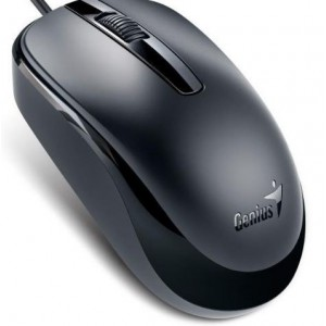 Genius GEN-DX120 Black Mouse -3 Button with Scroll
