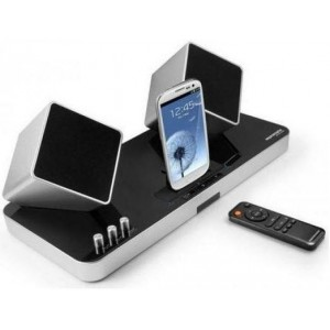 Promate 1161815675322 ProCube Rechargeable Wireless Stereo System and Docking Station
