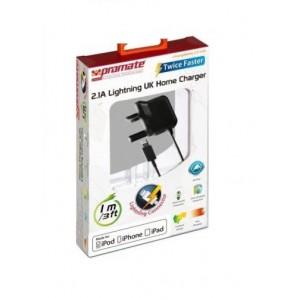 Promate 6959144000022   ChargMateLT-UK Multifunction Lightning Home charger for iPad, iPhone and iPod