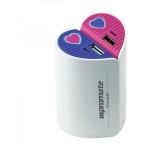 Promate  6959144011974  Couple 5200mAh Split Heart Universal Back up Battery
