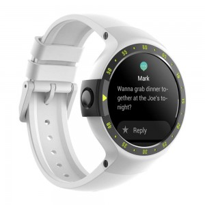 Ticwatch S (Express) Android Smartwatch (Wear OS) - Glacier White