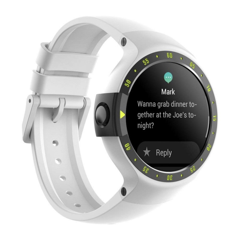 Ticwatch S (Sport) Android Smartwatch (Wear OS) - Glacier White - GeeWiz