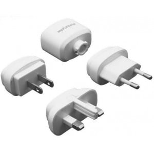 Promate 6959144000312-W Traverse Multiregional Travel USB Charger-White