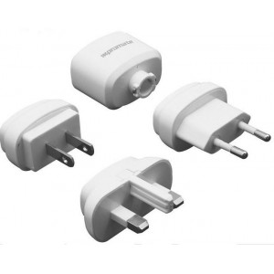 Promate 5959144000313 Traverse Multiregional Travel USB Charger-White