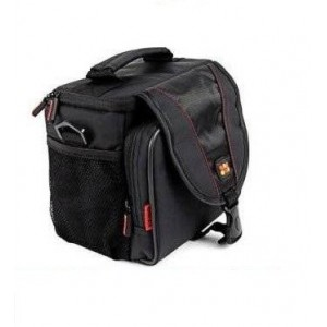 Promate 5161815236512 Xpose.L Compact Camera/Camcorder Case with Front Storage, Side Mesh Pocket and Shoulder Strap
