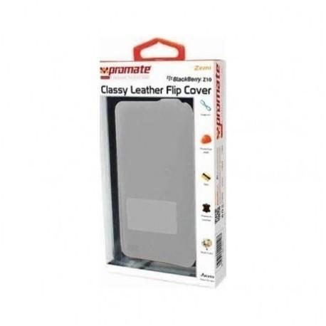 Promate 959144000110 Zemi BlackBerry Z10 Classy Leather Flip Cover - Grey