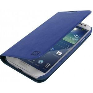 Promate   6959144000626  Tama-S4 Elegant Book-Style Leather Flip Cover for Samsung Galaxy S4-Blue