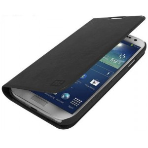 Promate  6959144000602  Tama-S4 Elegant Book-Style Leather Flip Cover for Samsung Galaxy S4-Black