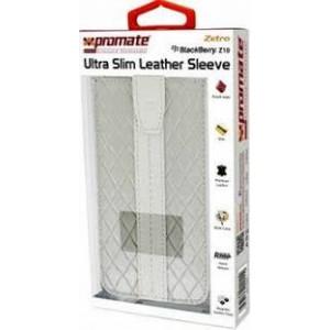 Promate  5959144000115  Zetro BlackBerry Z10 Ultra Slim Leather Sleeve -White
