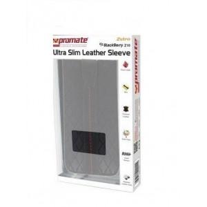 Promate  6959144000114  Zetro BlackBerry Z10 Ultra Slim Leather Sleeve -Black