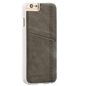 Promate 6959144016634  Slit-i6P Classy Snap-On Leather Case with Card Slot - Grey