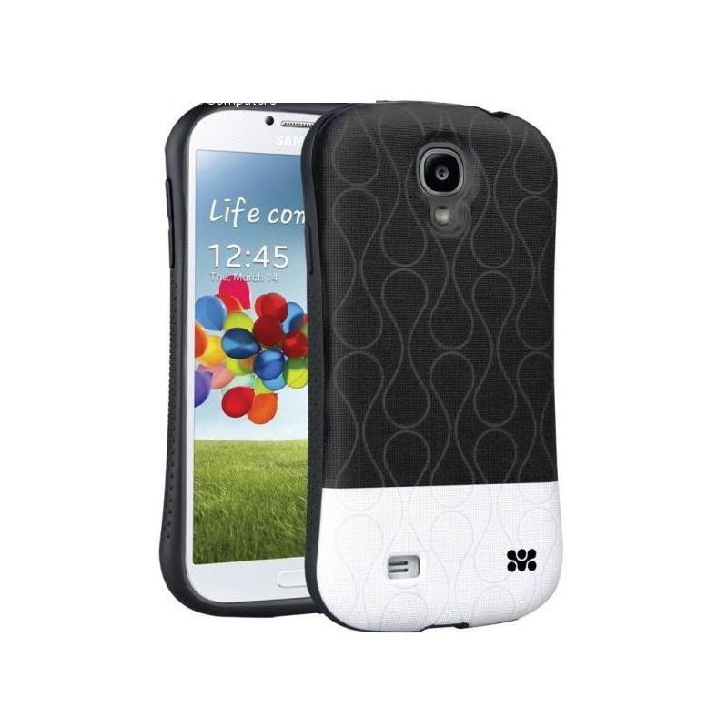 Promate  6959144005973 Cameo.S4-Cameo-Drip Patterned Flexi-Grip Snap On Case for Samsung Galaxy S4-Black