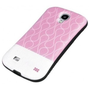 Promate  6959144006000 Cameo.S4-Cameo-Drip Patterned Flexi-Grip Snap On Case for Samsung Galaxy S4 -Pink