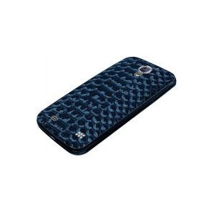 Promate  6959144004587  Charm.S4 Premium Patterned-Leather Back Cover-for Samsung Galaxy S4-Blue
